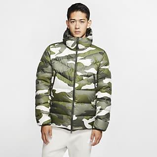 Nike Sportswear Down-Fill Windrunner Printed Hooded Puffer Jacket