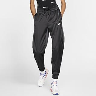 Nike Air Pantalones de entrenamiento de satén para mujer