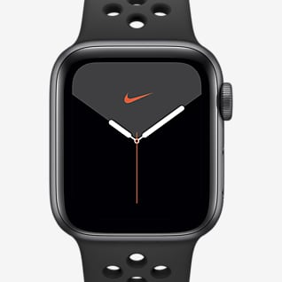 Apple Watch Nike Series 5 (GPS) 搭配 Nike Sport Band 40 毫米深空灰色铝金属表壳
