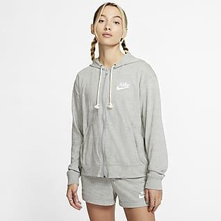 Nike Sportswear Gym Vintage Sweat à capuche et zip pour Femme