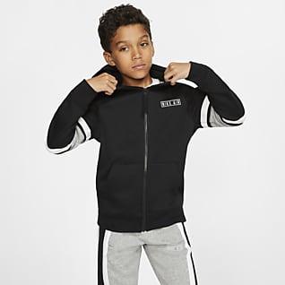 Nike Air Sudadera con capucha de cierre completo para niños talla grande