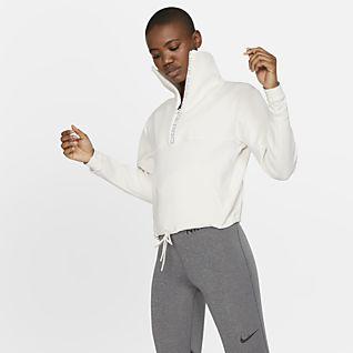 Nike Pro Top recortado em lã cardada para mulher