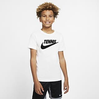 NikeCourt Dri-FIT Older Kids (Boys') Graphic Tennis T-Shirt