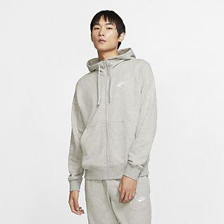 Nike Sportswear Club Tam Boy Fermuarlı Erkek Kapüşonlu Üst
