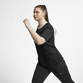 Nike Miler Damska koszulka do biegania z krótkim rękawem (duże rozmiary)