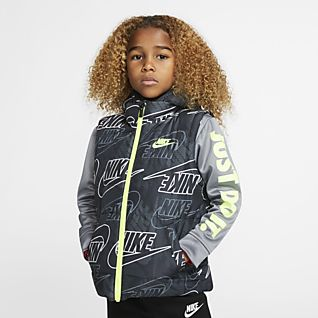 Nike Therma Little Kids' Full-Zip Puffer Hoodie