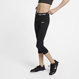 Nike Pro Träningsbyxor i trekvartslängd för ungdom (tjejer)