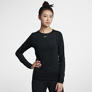 Nike Pro 女款長袖網布上衣