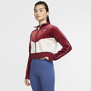 Damska bluza z dzianiny Nike Sportswear Heritage Niebieski