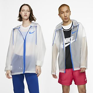 Nike Halvgenomskinlig regnjacka