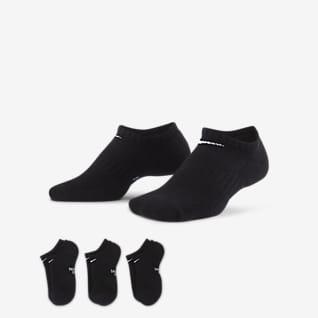 Nike Everyday Calcetines invisibles acolchados para niños talla grande (3 pares)