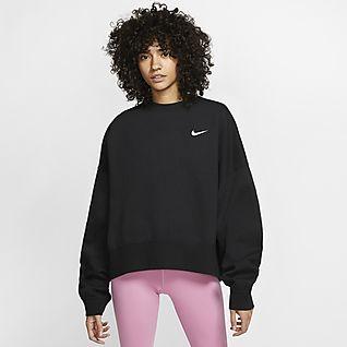 Nike Sportswear Essential Fleeceshirt met ronde hals voor dames