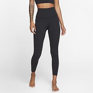 Nike Yoga Luxe Женские слегка укороченные леггинсы из ткани Infinalon с высокой посадкой