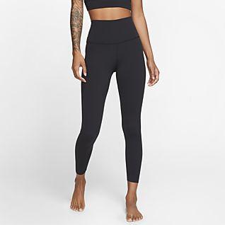 Nike Yoga Luxe Женские слегка укороченные тайтсы из ткани Infinalon