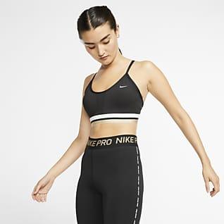 Nike Indy Icon Clash Спортивное бра с легкой поддержкой и вкладышем