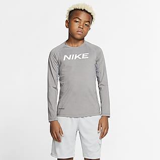 Nike Pro Big Kids' (Boys') Long-Sleeve Training Top