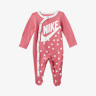 Nike Baby (0-9M) Long-Sleeve Footed Coverall