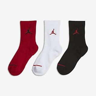 Jordan Jumpman Calcetines largos acolchados para niños talla pequeña (3 pares)