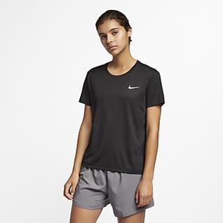 Nike Miler Playera de running de manga corta para mujer