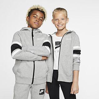 Nike Air Bluza z kapturem i zamkiem na całej długości dla dużych dzieci