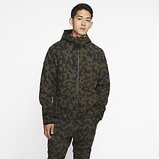 Nike Sportswear Tech Fleece Huvtröja med tryck och hel dragkedja för män