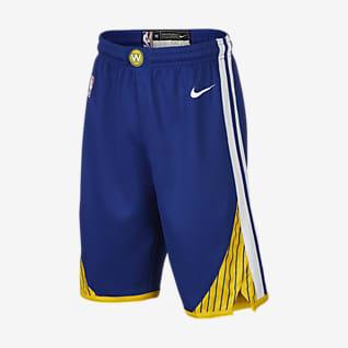 金州勇士队 Nike Icon Edition Swingman NBA 大童(男孩)短裤