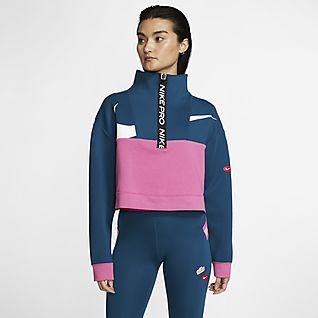 Nike Pro Get Fit 女款 Fleece 半拉鍊式外套