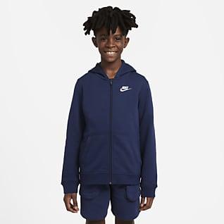 Nike Sportswear Club Худи с молнией во всю длину для школьников