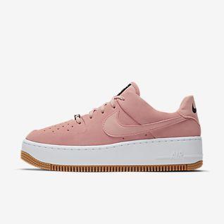 nike air force 1 womens light pink tick