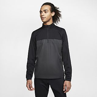 Nike Shield Victory Yarım Fermuarlı Erkek Golf Ceketi