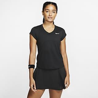 NikeCourt Dri-FIT Camisola de ténis de manga curta para mulher
