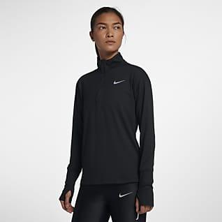 Nike Element Camiseta de running de medio cierre para mujer
