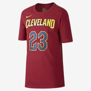 Nike Icon NBA Cavaliers (James) Basketball-T-shirt til store børn (drenge)