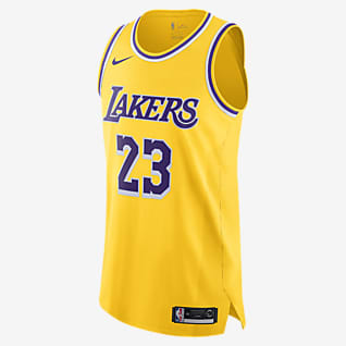 洛杉矶湖人队 (LeBron James) Icon Edition Nike NBA Authentic Jersey 男子球衣