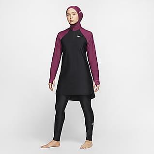 Nike Victory Damskie dopasowane legginsy kąpielowe zapewniające pełną osłonę