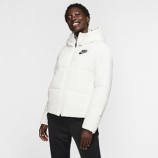 Nike Sportswear Synthetic-Fill Løbejakke med hætte til kvinder