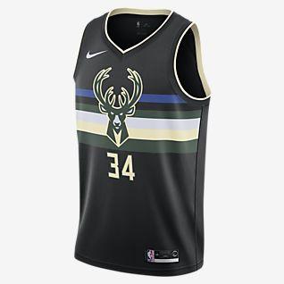 密尔沃基雄鹿队 (Giannis Antetokounmpo) Statement Edition Nike NBA Swingman Jersey 男子球衣