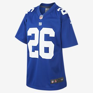 NFL New York Giants Game Jersey (Saquon Barkley) American-Football-Trikot für ältere Kinder