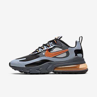 Nike Air Max 270 React Mænd Sort Orange Rød 40 45