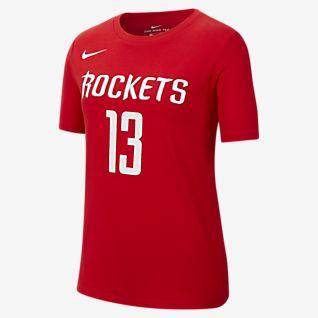 James Harden Rockets Icon Edition Big Kids' Nike NBA T-Shirt