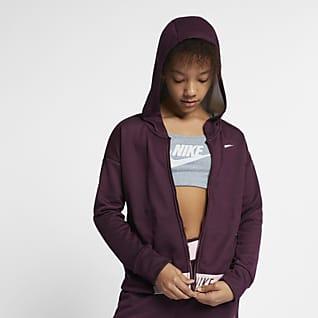 Nike Felpa da training con cappuccio e zip a tutta lunghezza - Ragazza