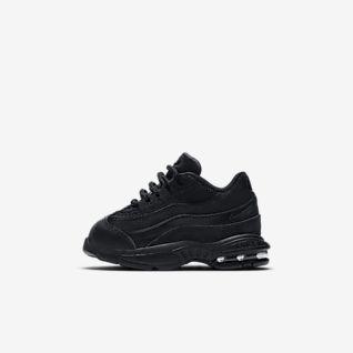 black nike 95 trainers
