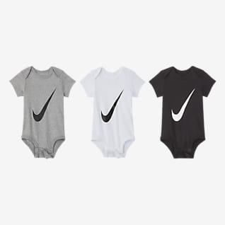 Nike Σετ ολόσωμα κορμάκια για βρέφη (0-6M) (τρία τεμάχια)