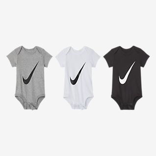 Nike Baby (0–6M) Bodysuit Set (3-Pack)
