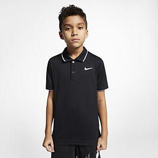 NikeCourt Dri-FIT Tennispolo voor jongens