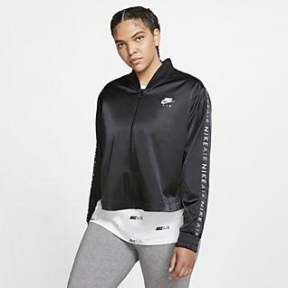 Nike Air Satin-Track-Jacket für Damen (große Größe)