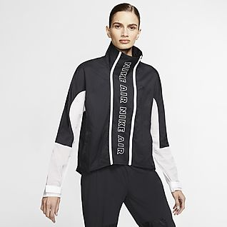 Nike Air Casaco de running com fecho completo para mulher