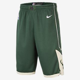 Milwaukee Bucks Nike Icon Edition Swingman NBA-s rövidnadrág nagyobb gyerekeknek (fiúk)