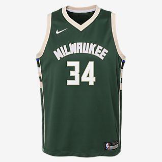 Giannis Antetokounmpo Milwaukee Bucks Nike Icon Edition Swingman Maillot de NBA pour Enfant plus âgé