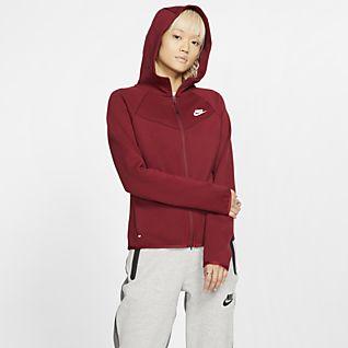 Dames Rood Hoodies en sweatshirts. Nike NL